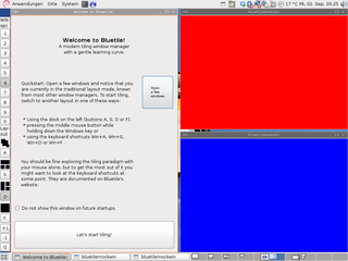 Screenshot of tiled vertical layout